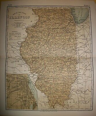 Lot of Thirteen Antique Maps of US States
