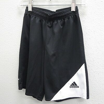 ADIDAS Kids Black White Athletic Shorts - Small