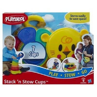 New Hasbro Playskool Stack'n Stow Cups B0501