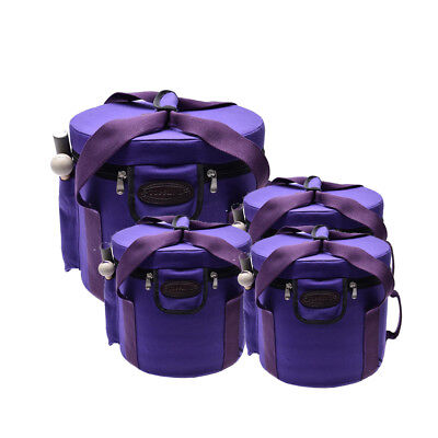 """Three 10"""" and One 12"""" Case for Set of 7 Frosted Crystal Singing Bowls 8''-12"""""""