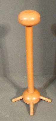 Vintage Orange Painted Wooden Hat Stand (A)