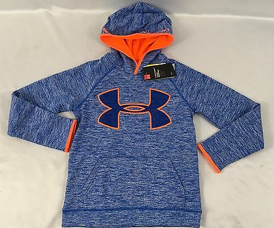 Under Armour Boys Sweater Hoodie Ultra Blue Orange Storm1 Size Youth M
