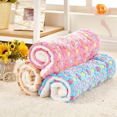 Dog's Cat's Soft Warm Rest Blanket Pet Puppy Sleep Bed Mat Fleece Kennel Cushion