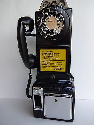 Payphone 3 slot pay phone Automatic Electric  Beautiful Condition Working Black