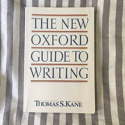 The New Oxford Guide to Writing by Thomas S. Kane Paperback Book (English)