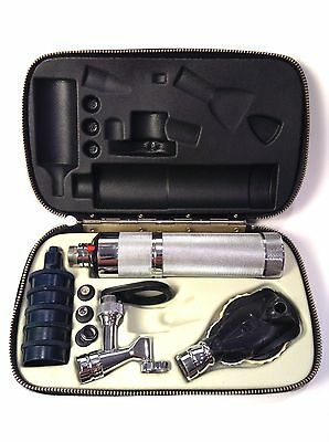 Welch Allyn Otoscope Opthalmoscope Diagnostic Set In Case Tested Working