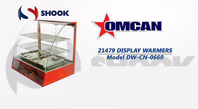 Omcan 21479 Commercial Curved Glass Hot Food Warmer Display Merchandiser Case