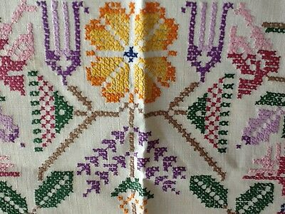 Vintage hand embroidered supper cloth  Never used. Free postage