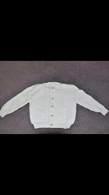Hand Knitted Cardigan Light Blue Size 18 Months - 2 Years