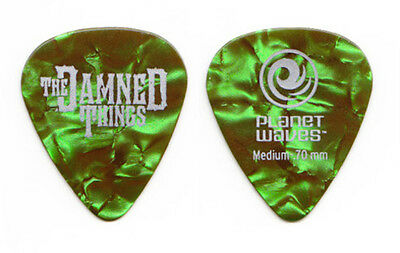 The Damned Things Green Pearl Guitar Pick 2012 Fall Out Boy Anthrax