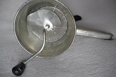 Food-Mill by Foley # 101 Pre-owned Washed Nickel Plated 2 QT Ricer, Masher BYNOW