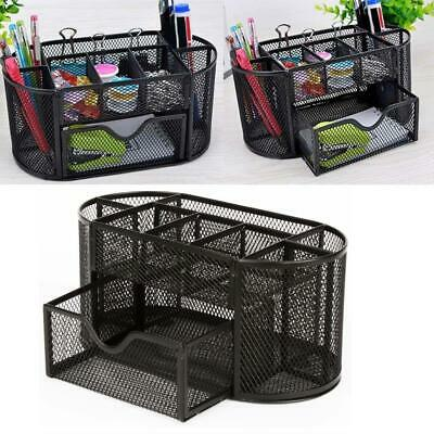 Exceptional Mesh Storage Organizer Desktop Office Supplies Card Pencil Pen Holder Tray  Black
