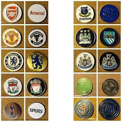 1 X 24mm(appr) GOLF BALL DOUBLE SIDED MARKERS FOOTBALL F.C. - LIVERPOOL,MAN.UTD,