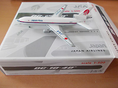 Hogan 1:500 Japan Airlines / Japan Asia JAA DC-10-40  RARE FROM JAPAN !