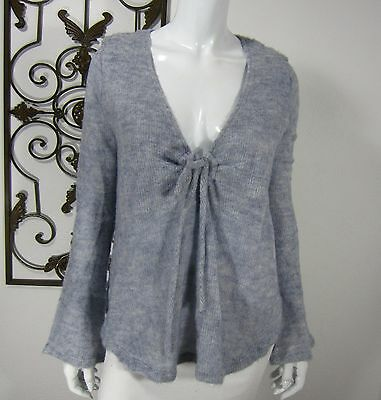 Nom Naissance On Melrose Long Sleeve Maternity Sweater Size M, Gray