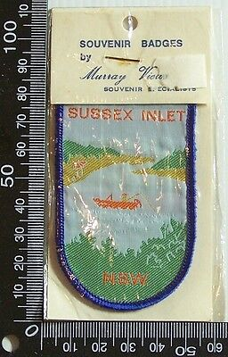 Vintage Sussex Inlet Nsw Embroidered Souvenir Patch Woven Cloth Sew-On Badge