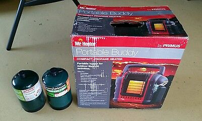 PORTABLE BUDDY COMPACT PROPANE HEATER PLUS CANISTERS camping travel