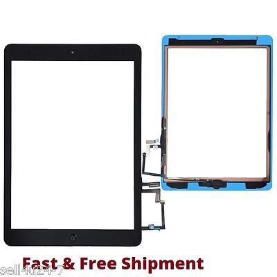 New Black Outer Glass + Touch Screen Digitizer For iPad Air 5th Generation Gen