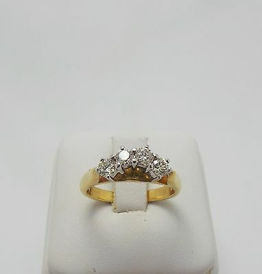 18ct YELLOW GOLD CURVED DIAMOND ETERNITY RING VALUED @$2027 COMES WITH VALUATION