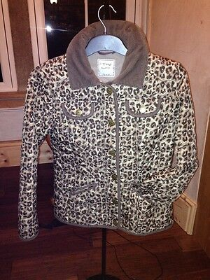 Next 11-12 years LEOPARD PRINT QUILTED COAT Padded Jacket  Girls