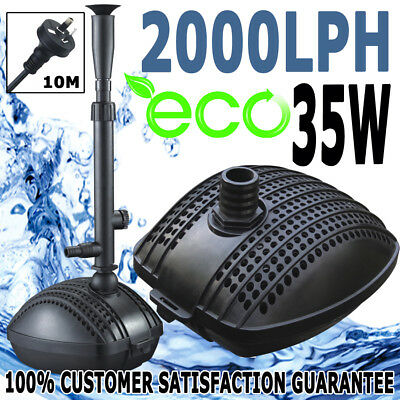 Jebao Pond Aquarium Fish Tank Pump Eco Fountain 2000 L/H Plus Fountain Kit