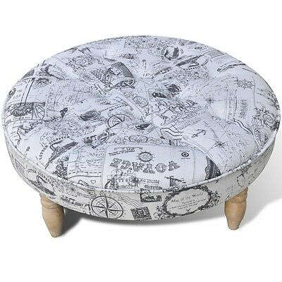 New Foot Stool Round Footrest Ottoman Seat Home Footstool Wooden 81cm Sofa Chair