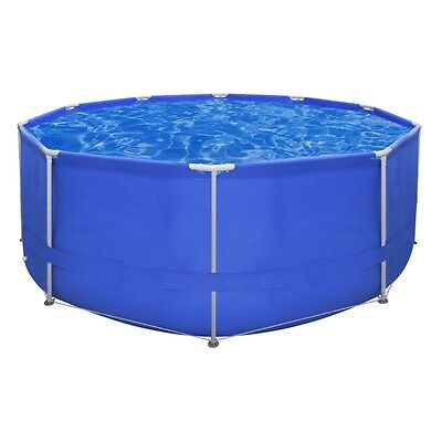 12ft Above Ground Round Swimming Pool Steel Frame Outdoor Folding Spa Heavy Duty