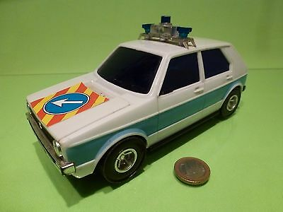 Lucky 3169 Vw Volkswagen Golf Mk1 Police Friction - White 1:22?- Good Condition