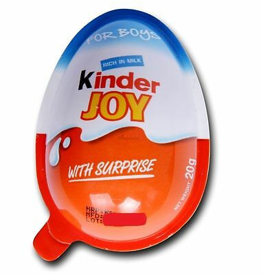 24 PCs OF KINDER JOY EGGS FOR BOY'S INSIDE CHOCOLATE TOYS- LOW SHIPPING CHARGES