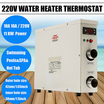AU 220V 11KW Swimming Pool & SPA Hot Tub Electric Water Heater Thermostat