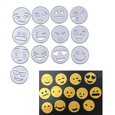 13 X Emoji Metal Cutting Dies Stencils DIY Scrapbooking Card Photo Diary Crafts