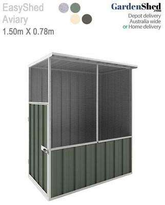 EasyShed Aviary 1.50m x 0.75m Bird Cage - FREE Anchor & Skylight (Sep only)