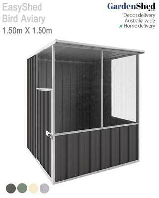 EasyShed Aviary 1.50m x 1.50m Bird Cage - FREE Anchor & Skylight (Sep only)