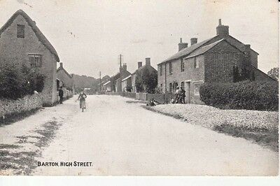 Early MIDDLE BARTON High Street - houses, people