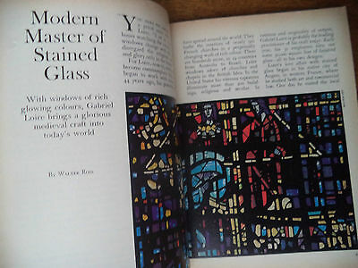 Stained Glass Gabriel Loire Scarce Vintage Magazine Article  Must See