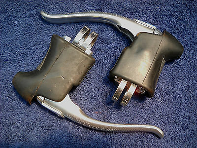 **new Old Stock Alloy/steel Quick Release Brake Levers With Black Rubber Hoods**