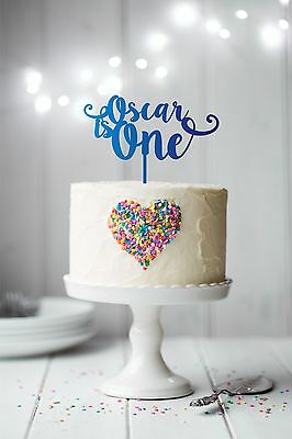 Personalised 'is one' first birthday cake topper with name - Laser Cut Custom