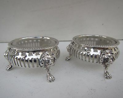 Pair of Silver Plated & Glass Salt Cellars - James Dixon & Sons, Sheffield