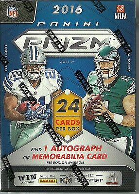 2016 Panini PRIZM Football New NFL Trading Cards 6pk Retail Blaster Box=24 Cards