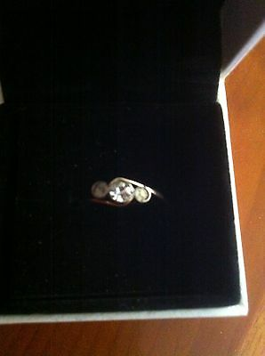 9ct Gold/silver Ring Size Q
