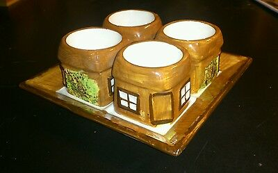 Vintage price potteries kensington pottery cottage egg cups and plate