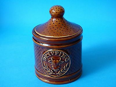 Collectable Treacle Glaze P&k Price Kensington Bros Pottery Lidded Dripping Pot