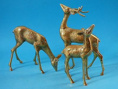 Set Fallow Red Deer Stag Doe Buck Fawn Hunting Farm Countryside Animals 1.2Kg