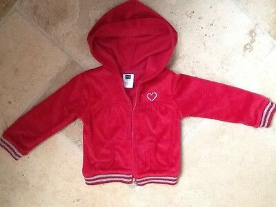 Girls Red Velour jacket/cardigan from M&Co Age 3- 4 years excellent condition