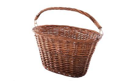 Traditional Dutch Style Cycle Front Wicker Basket Oval Shape With Handle
