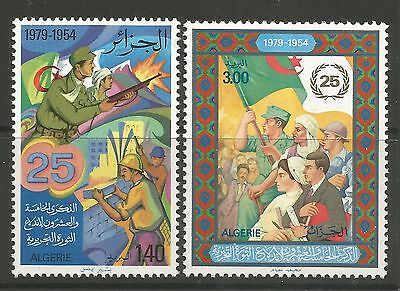 ALGERIA. 1979. 25th Anniv of The Revolution Set. SG: 762/63. Mint Never Hinged.