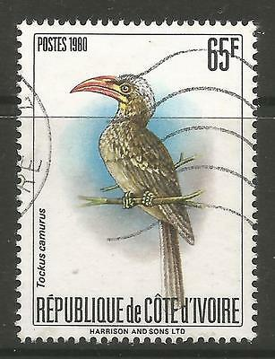 IVORY COAST. 1980. Red Billed Dwarf Hornbill Commemorative. SG: 655a. Fine Used.