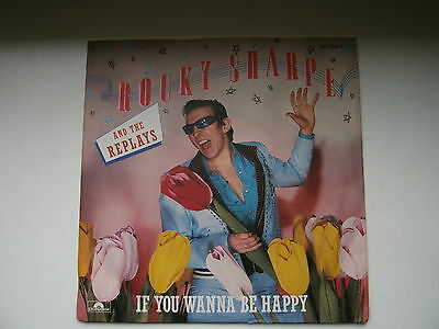 """7""""Single - ROCKY SHARPE AND THE REPLAYS - If You Wanna Be Happy / If You Know..."""