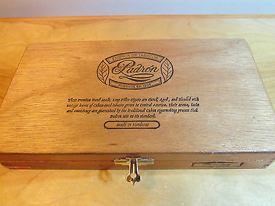 Vintage Wooden Cigar Box Padron 1964 Made In Honduras