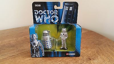 Corgi - Doctor Who - Dr. Who Dalek & Cyberman Diecast Figures New Boxed  TY96103